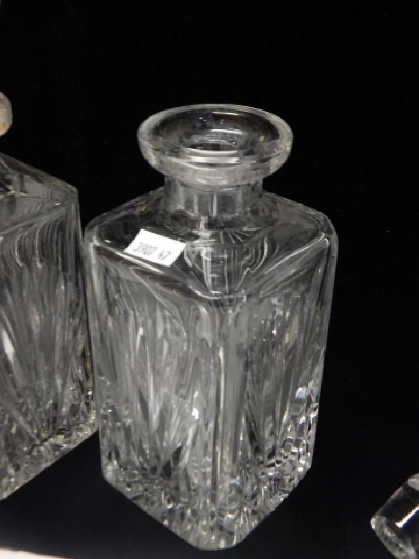 TWO GORHAM CRYSTAL DECANTERS - 3