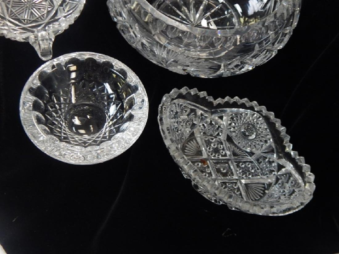 5 PIECE LOT OF CUT GLASS BOWLS AND ASH TRAY - 2
