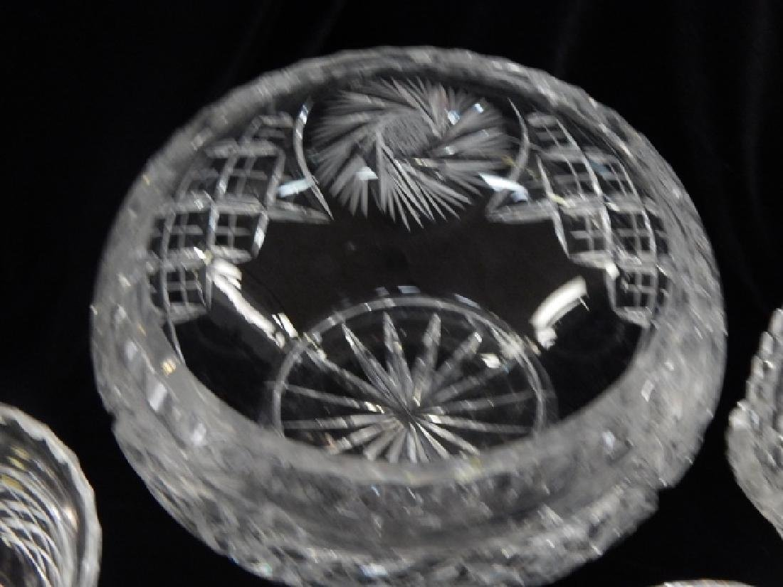 5 PIECE LOT OF CUT GLASS BOWLS AND ASH TRAY - 3