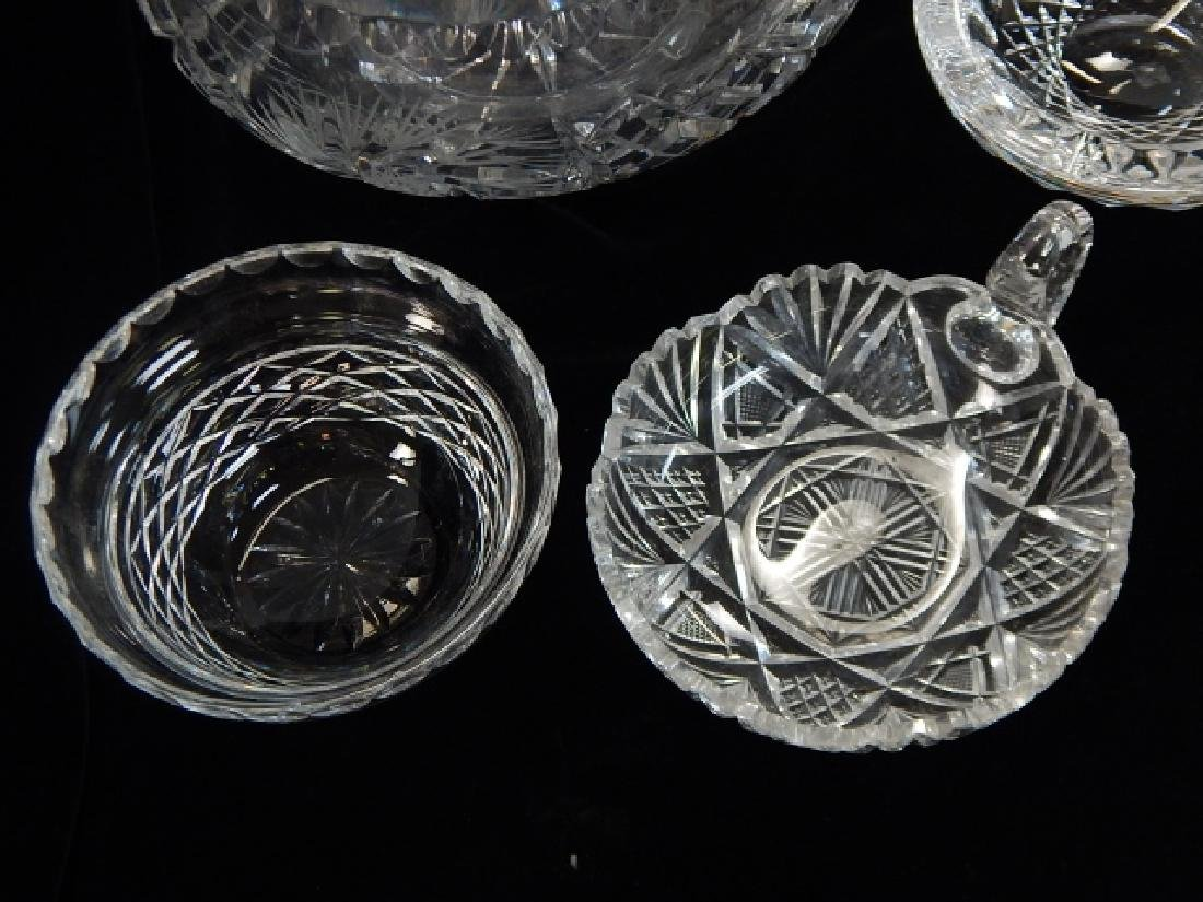 5 PIECE LOT OF CUT GLASS BOWLS AND ASH TRAY - 4