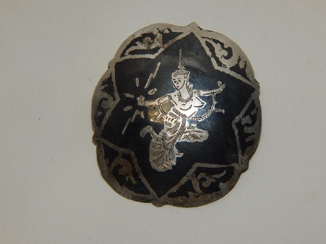TWO SIAM STERLING SILVER PINS - 3