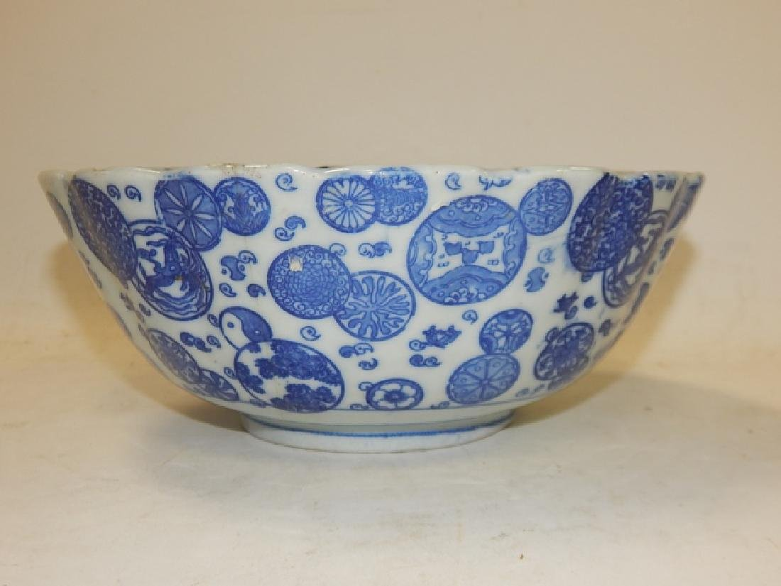 CHINESE BLUE AND WHITE BOWL - 2