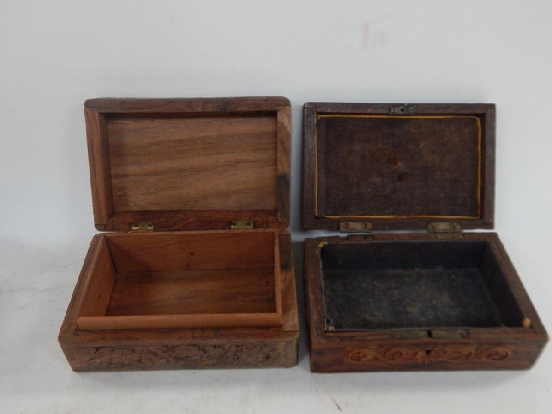 COLLECTION CARVED AND INLAID BOXES - 6