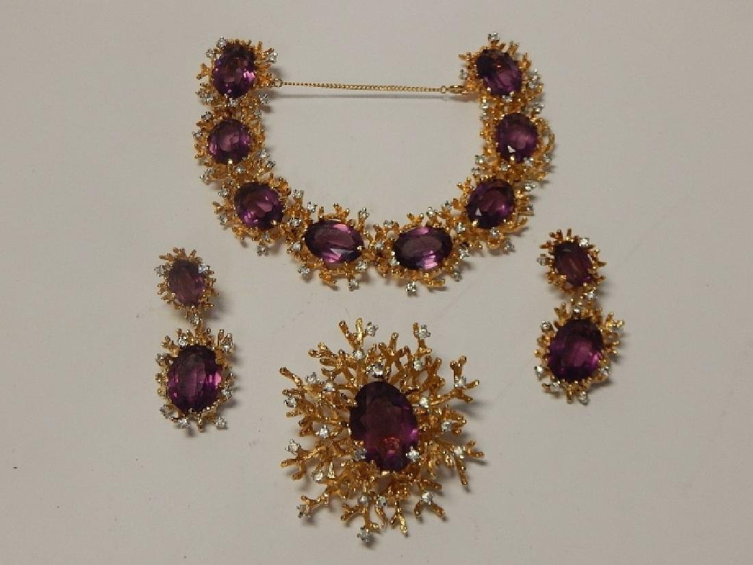 PANELLA EARRING, BRACELET, AND BROOCH SET