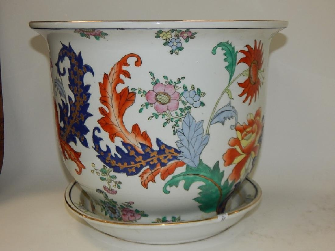 CHINESE HAND PAINTED PORCELAIN PLANTER - 2
