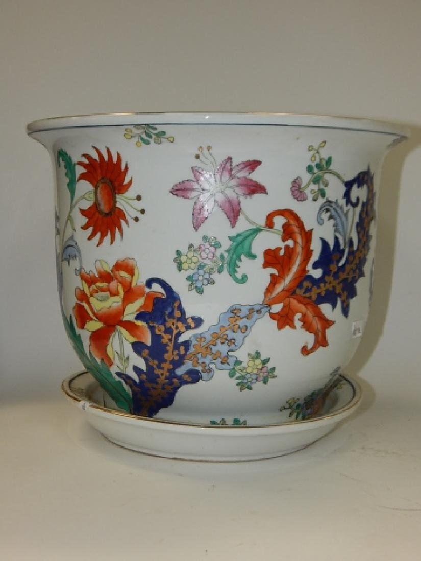 CHINESE HAND PAINTED PORCELAIN PLANTER - 3