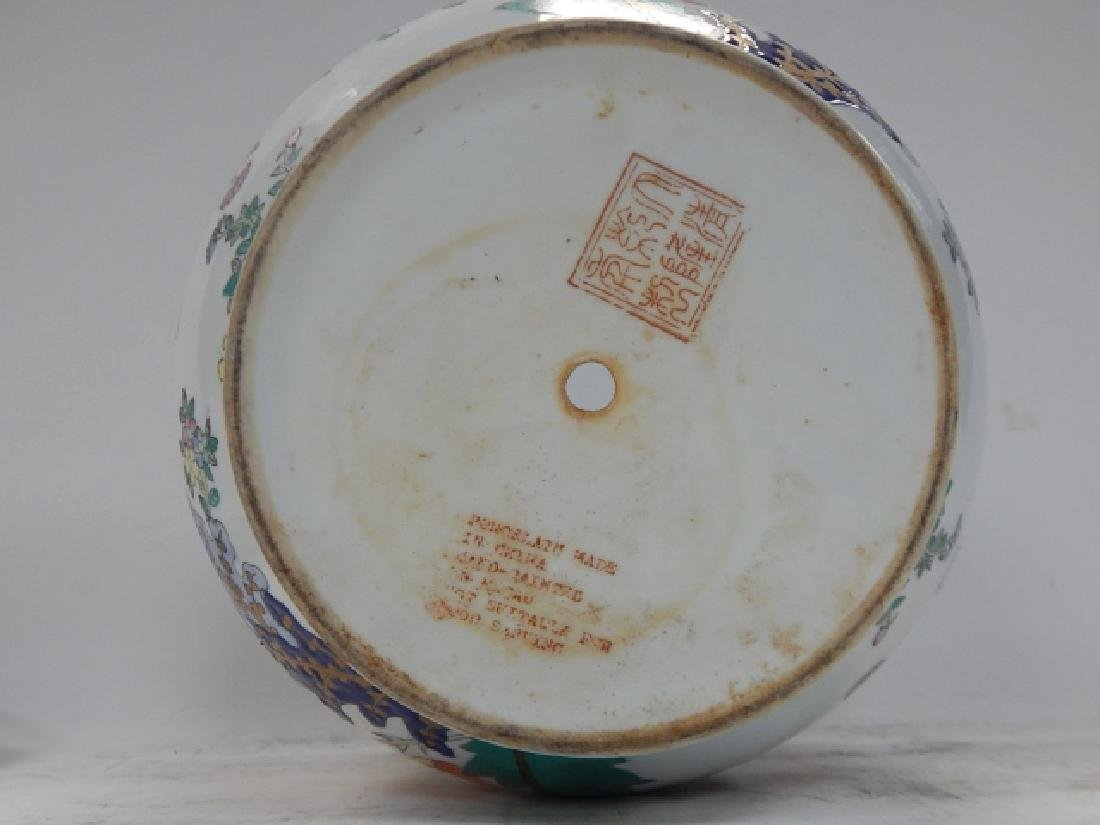 CHINESE HAND PAINTED PORCELAIN PLANTER - 4