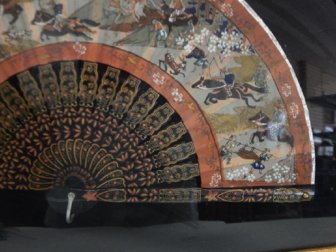 HAND PAINTED FAN IN FRAME - 2