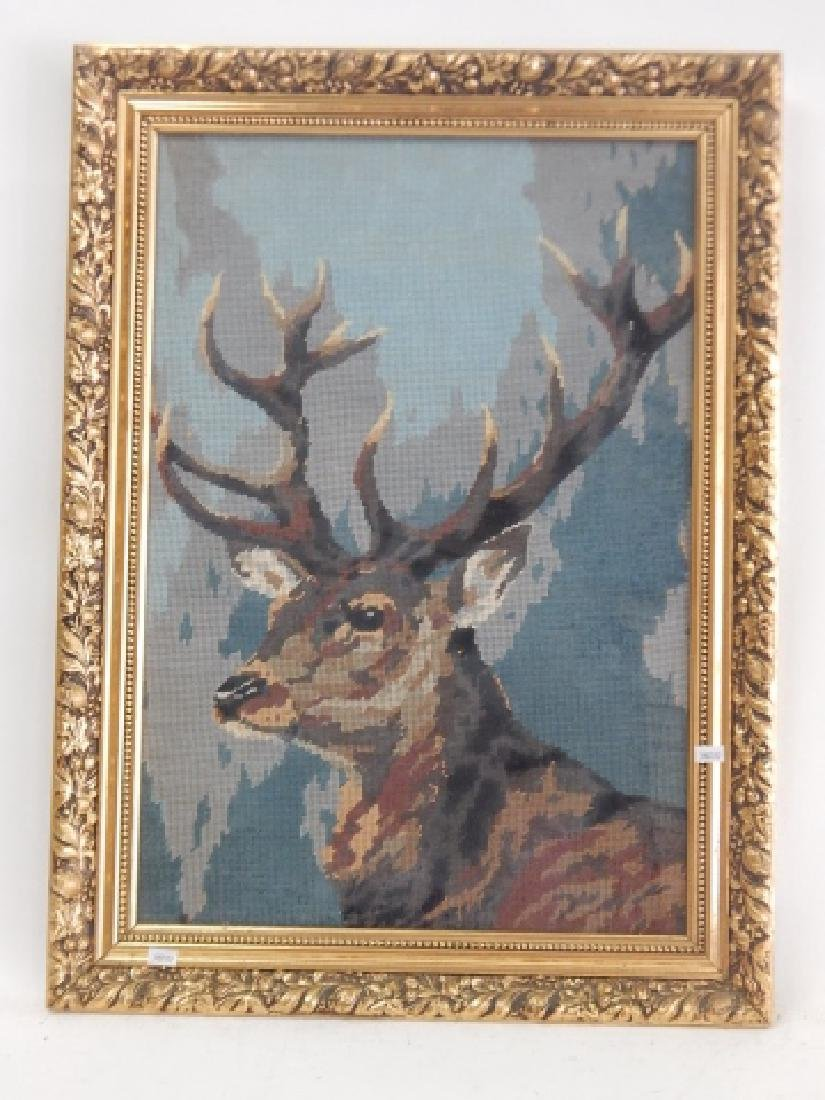 NEEDLE POINT DEER