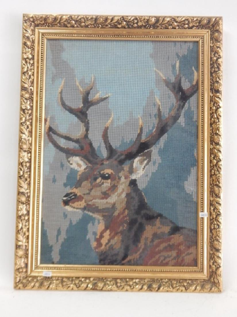 NEEDLE POINT DEER - 2