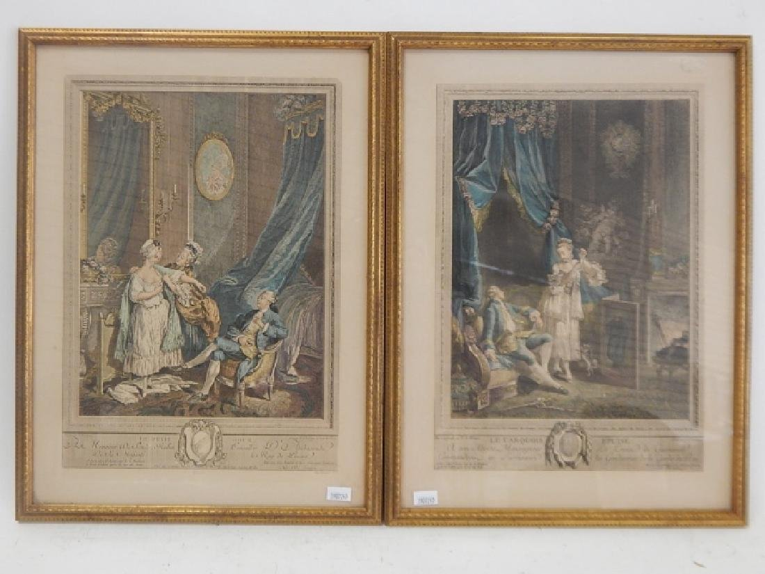 PAIR OF FRENCH PRINTS