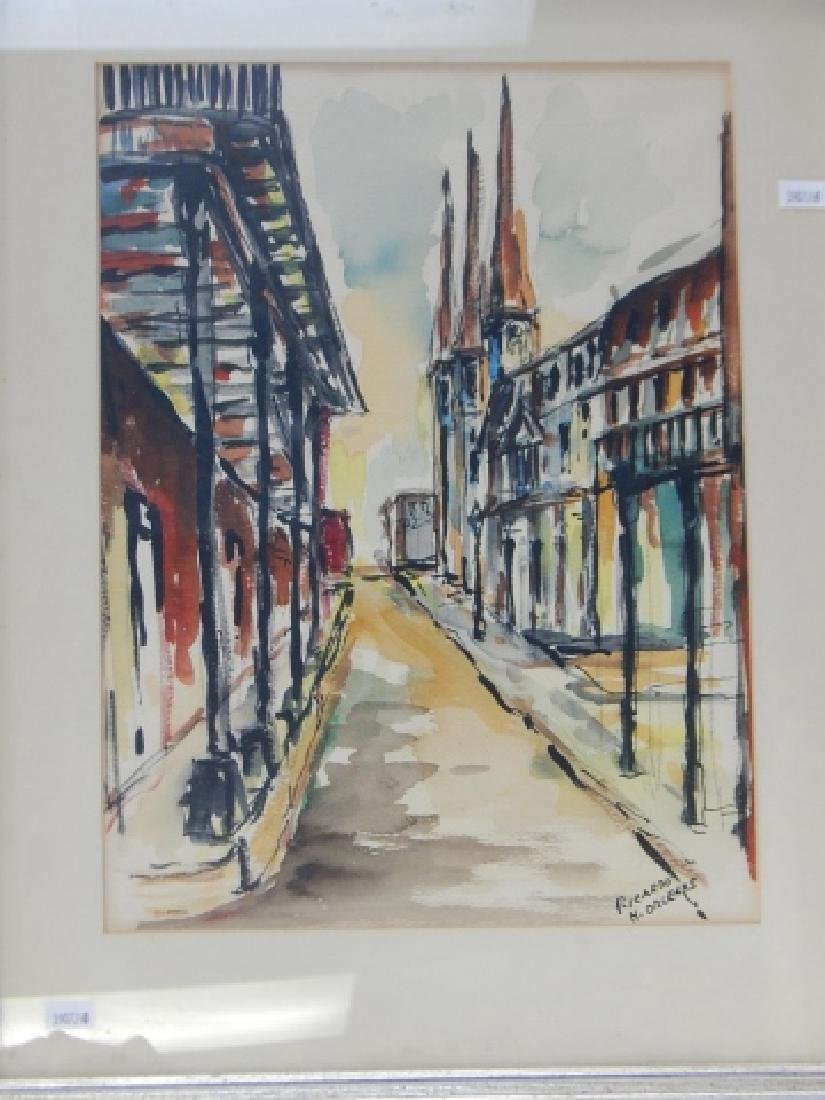TWO NEW ORLEANS STREET SCENES WATERCOLORS - 2
