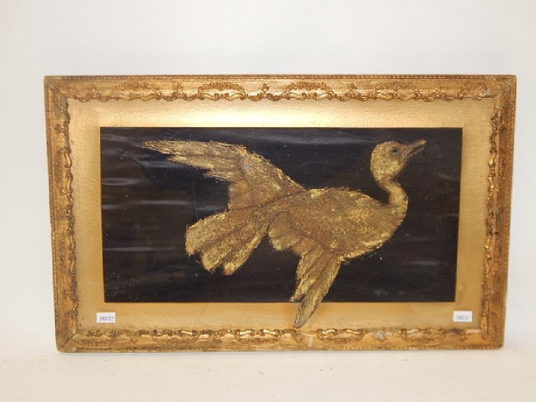 FOLK ART BIRD IN FRAME