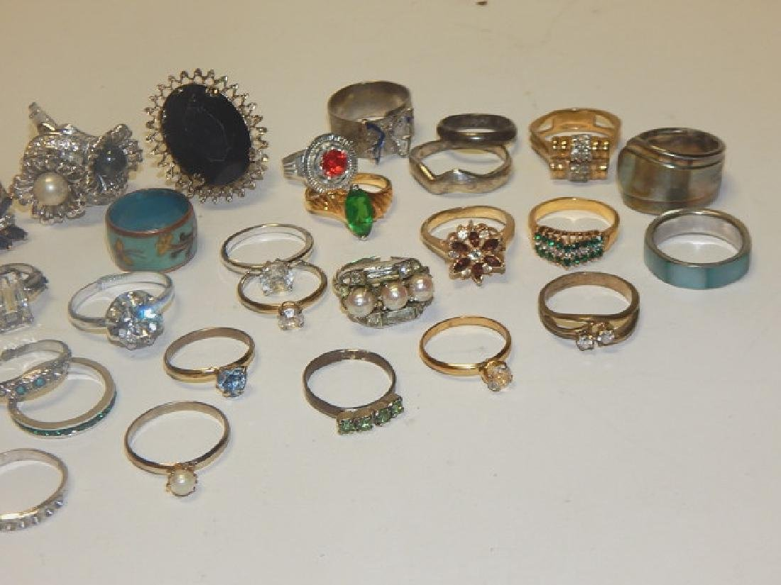LARGE LOT OF COSTUME RINGS - 2