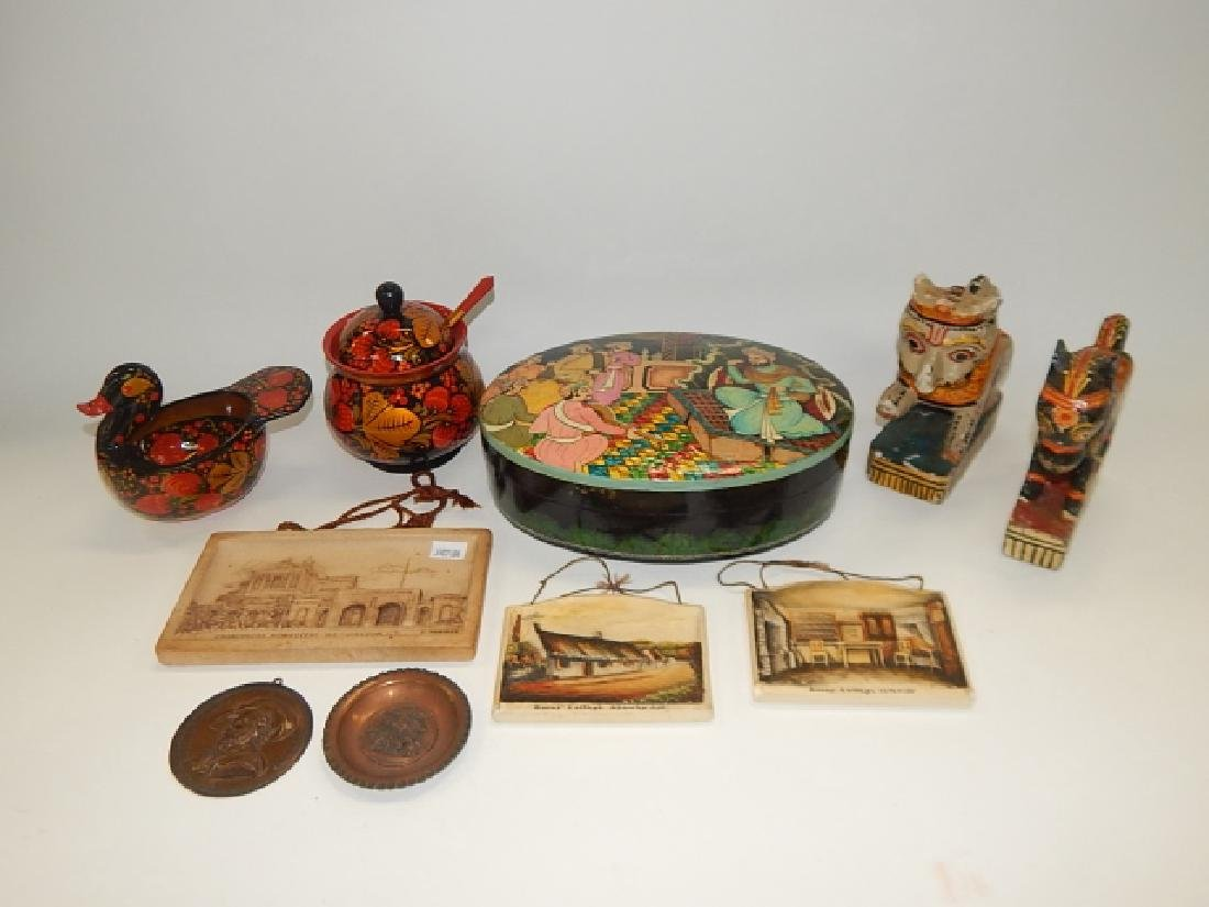 COLLECTION PAINTED ITEMS