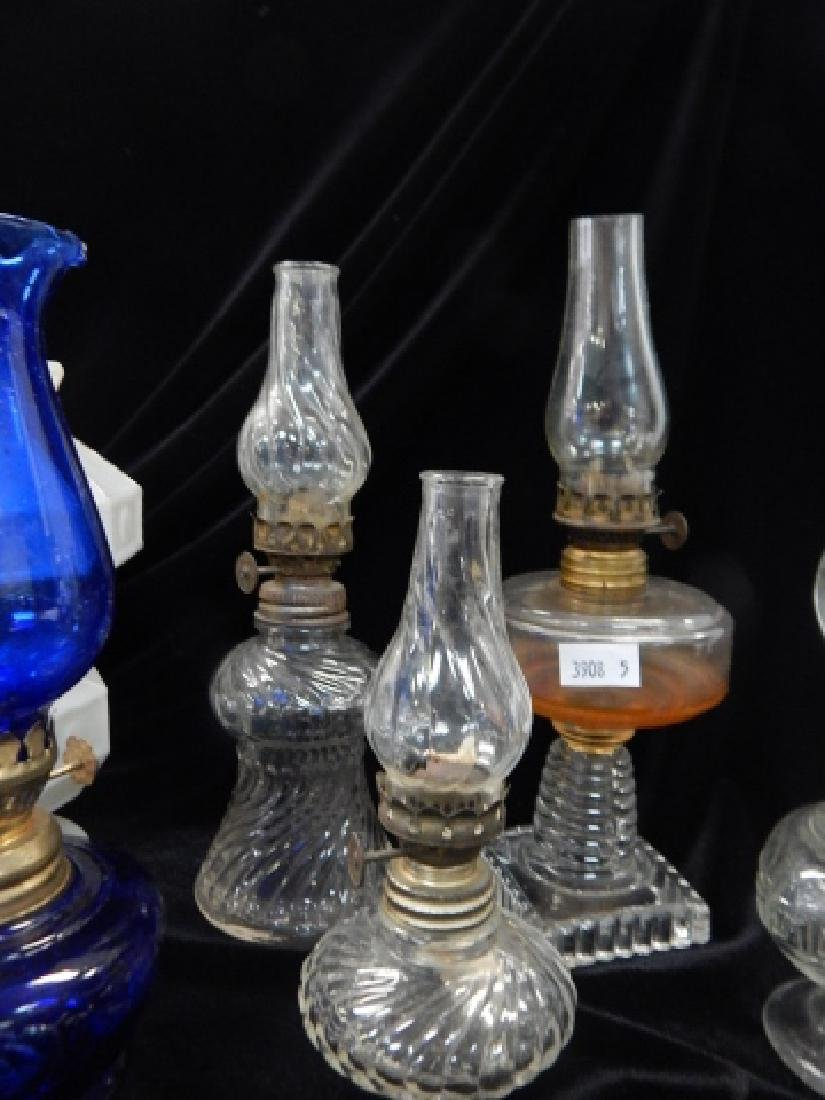 SIX MINATURE OIL LAMPS - 4