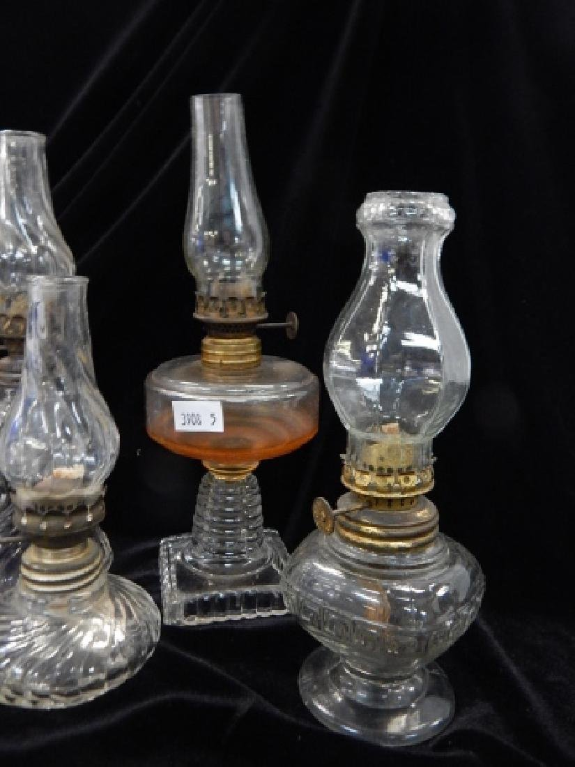 SIX MINATURE OIL LAMPS - 5