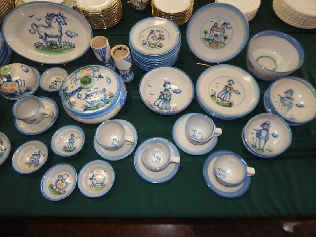 LARGE COLLECTION OF M.A. HADLEY DINNERWARE