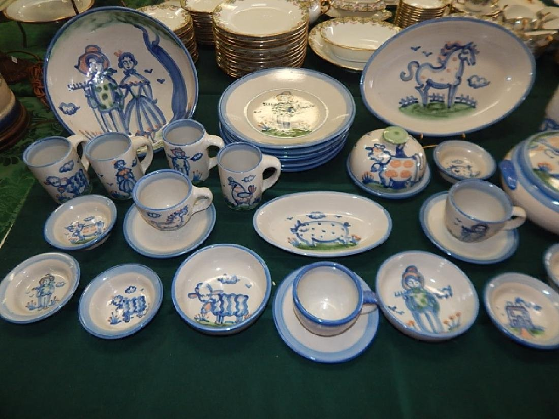 LARGE COLLECTION OF M.A. HADLEY DINNERWARE - 2