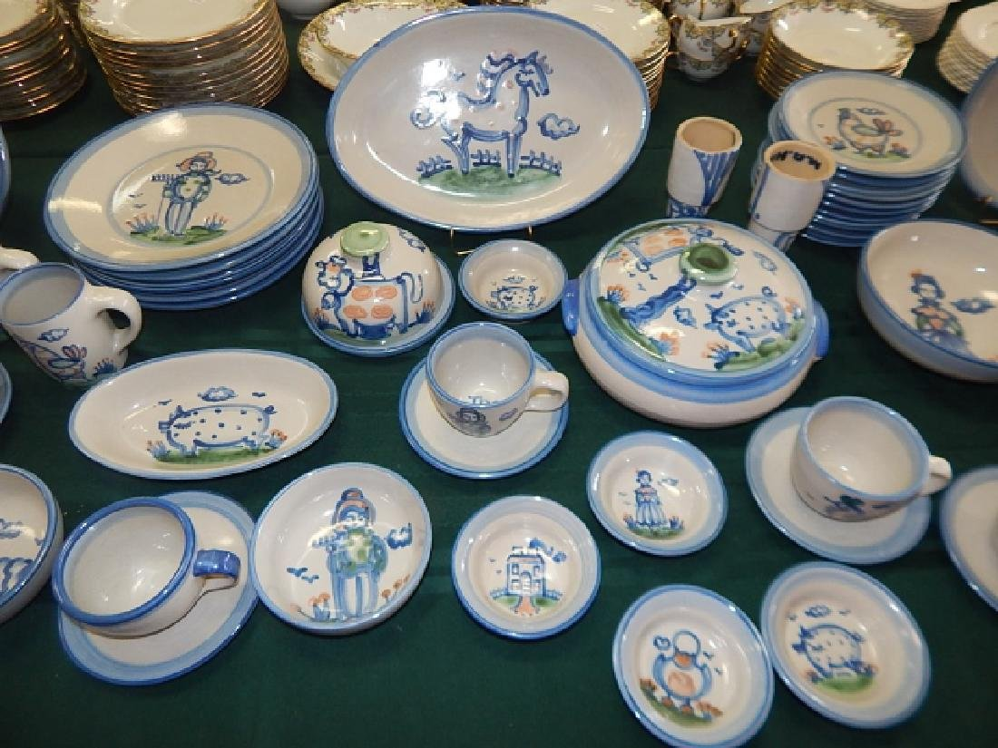 LARGE COLLECTION OF M.A. HADLEY DINNERWARE - 3