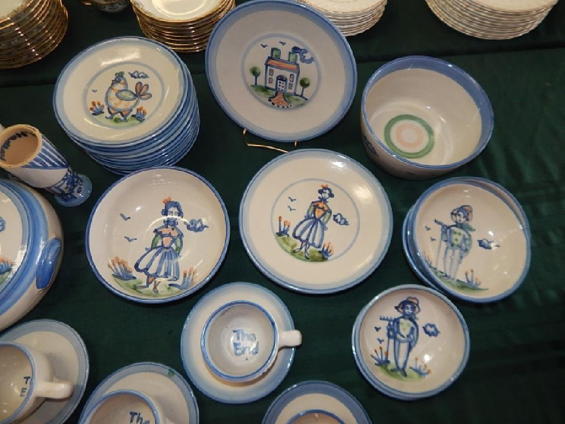 LARGE COLLECTION OF M.A. HADLEY DINNERWARE - 4