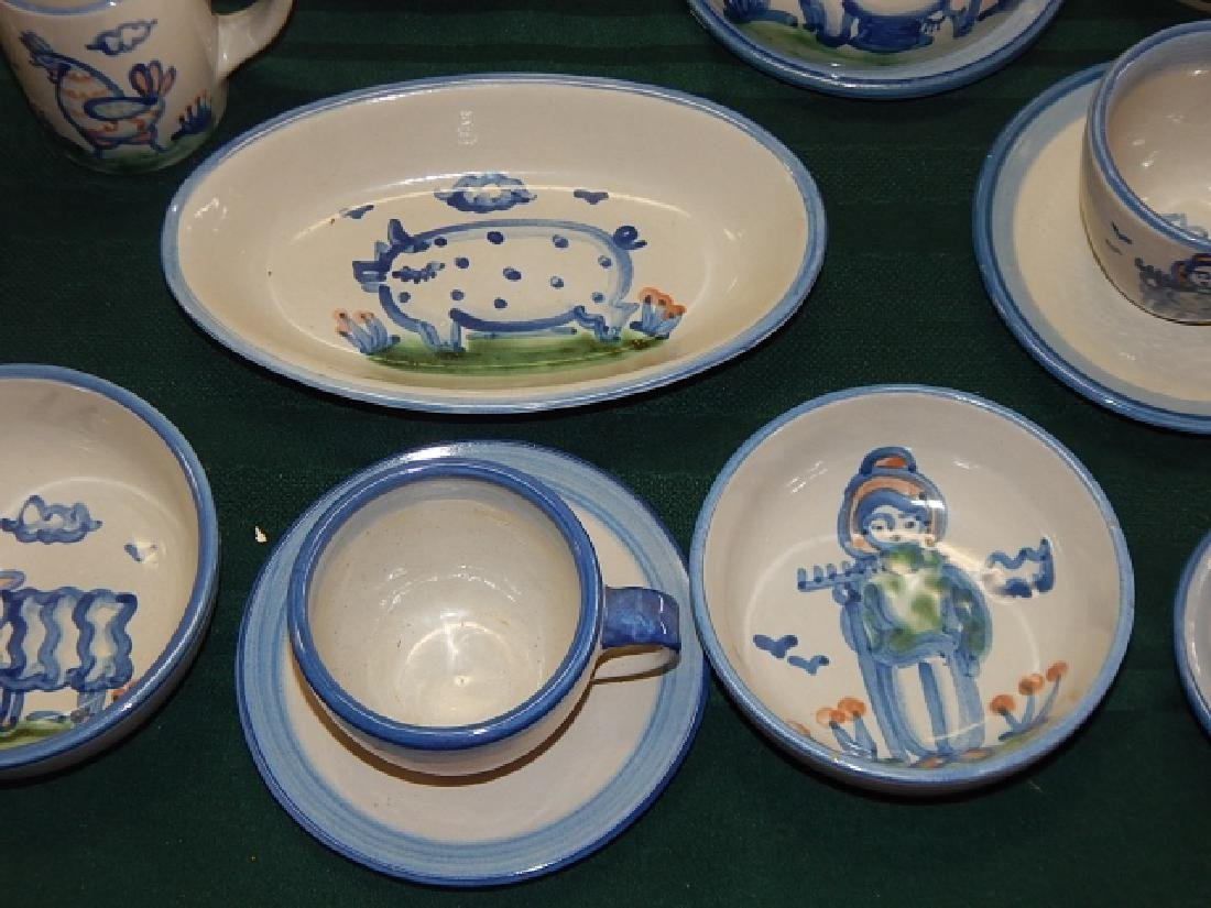 LARGE COLLECTION OF M.A. HADLEY DINNERWARE - 6