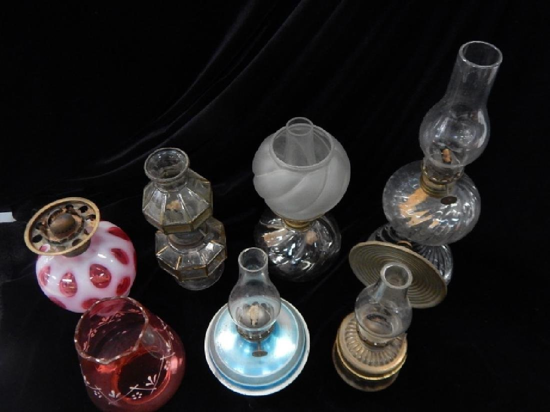SIX MINATURE OIL LAMPS - 2