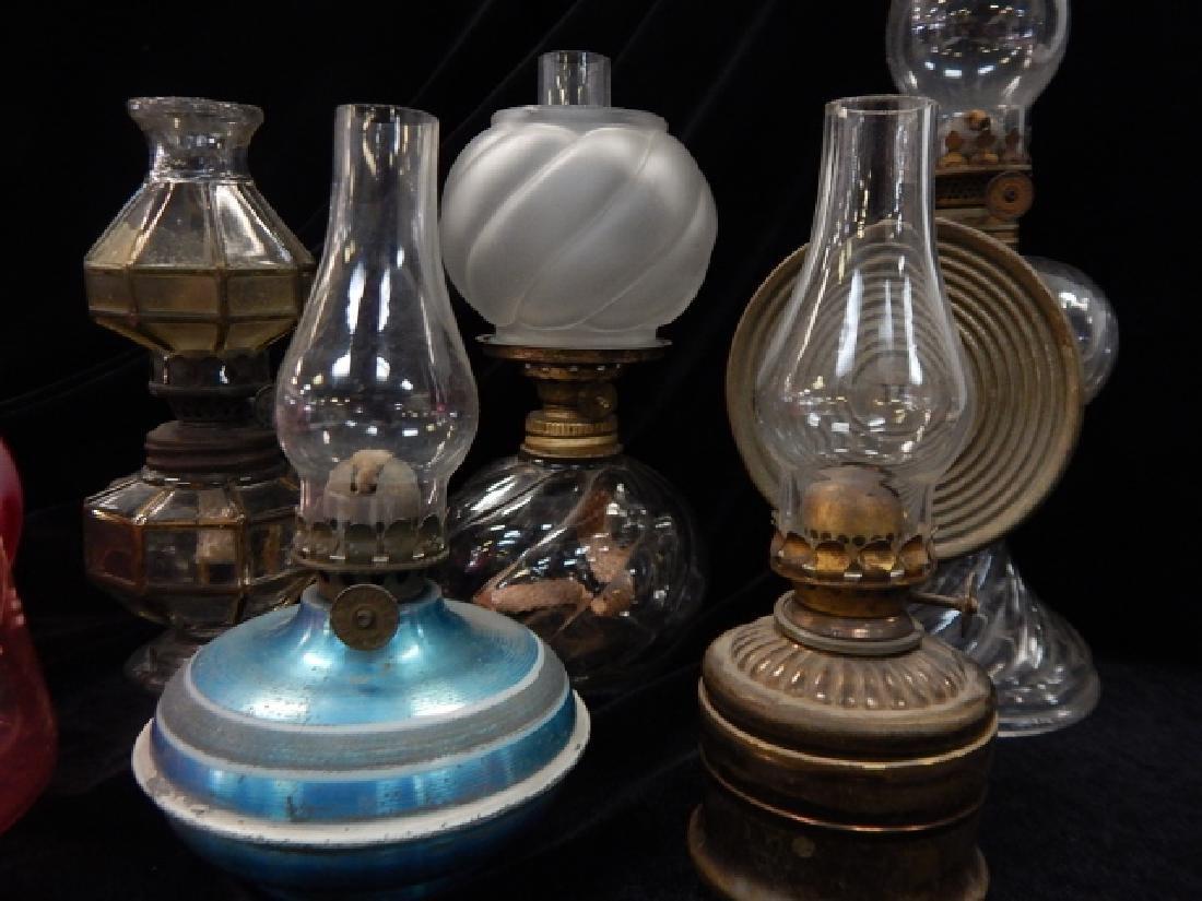 SIX MINATURE OIL LAMPS - 4