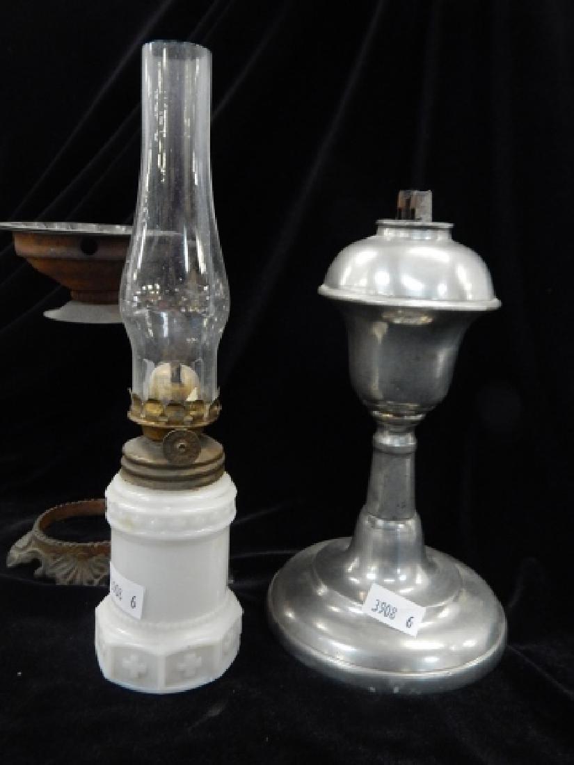 SIX MINATURE OIL LAMPS - 3