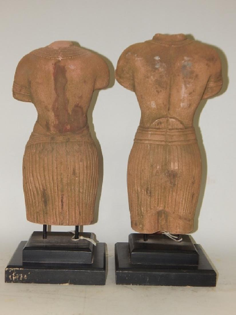 PAIR OF HAND MADE SANDSTONE BUSTS - 2