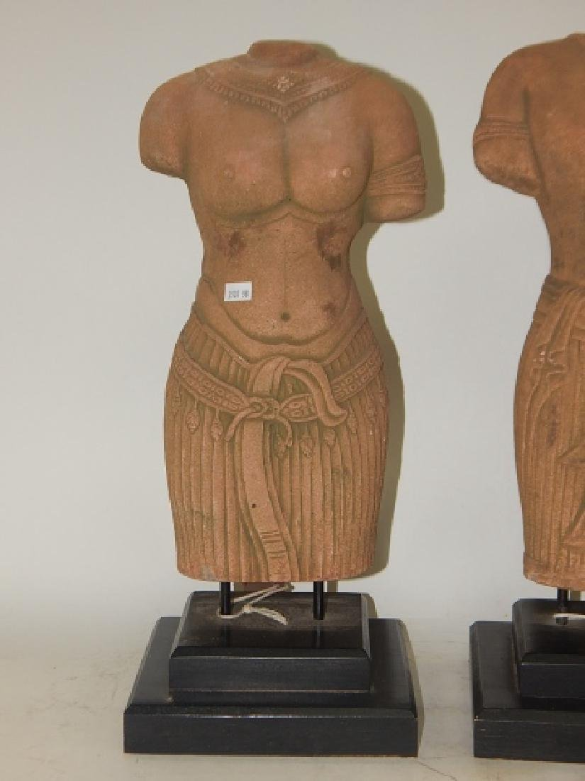 PAIR OF HAND MADE SANDSTONE BUSTS - 4