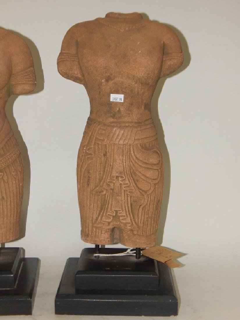PAIR OF HAND MADE SANDSTONE BUSTS - 5