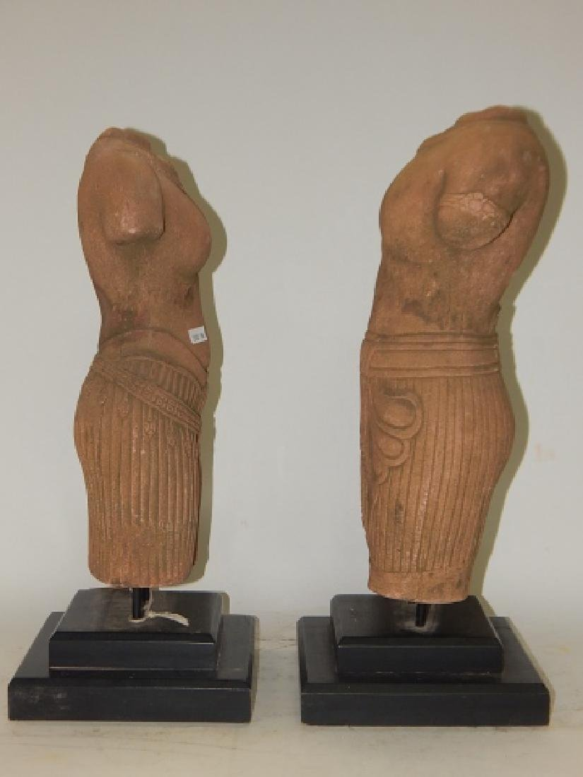 PAIR OF HAND MADE SANDSTONE BUSTS - 8