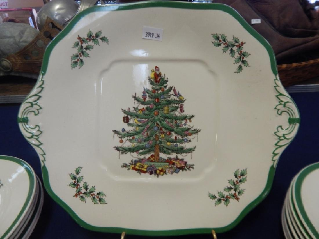 COLLECTION OF SPODE CHRISTMAS TREE DISHES - 2