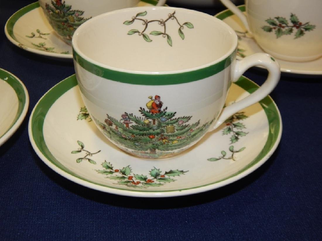 COLLECTION OF SPODE CHRISTMAS TREE DISHES - 6