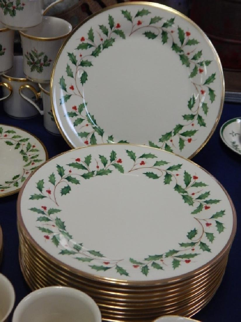 COLLECTION OF LENOX, HOLIDAY DINNER DISHES - 6