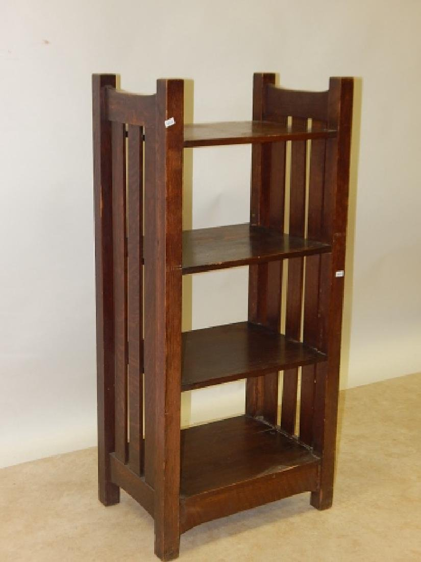MISSION OAK BOOK STAND - 2