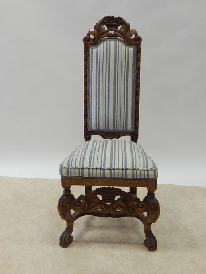 CARVED HIGH BACK SIDE CHAIR