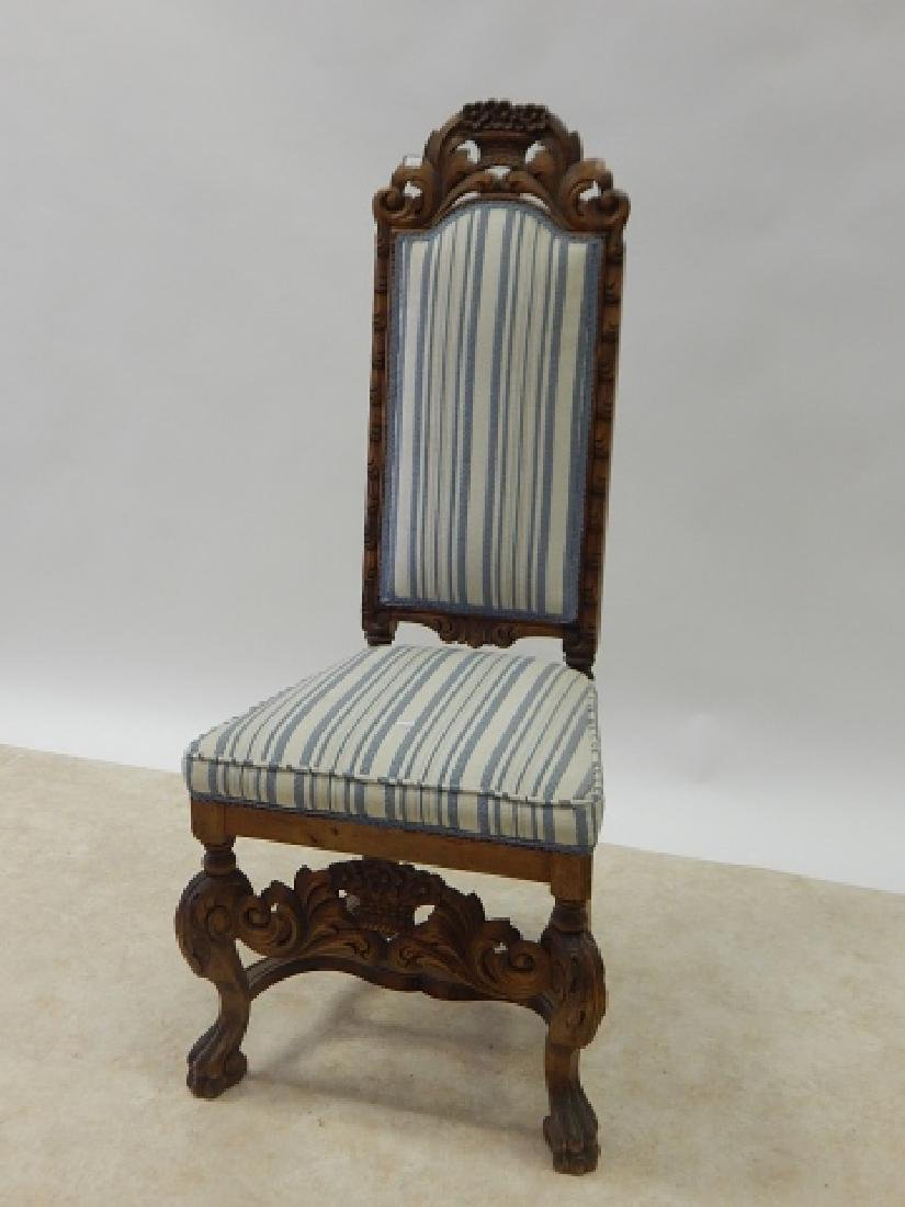 CARVED HIGH BACK SIDE CHAIR - 2