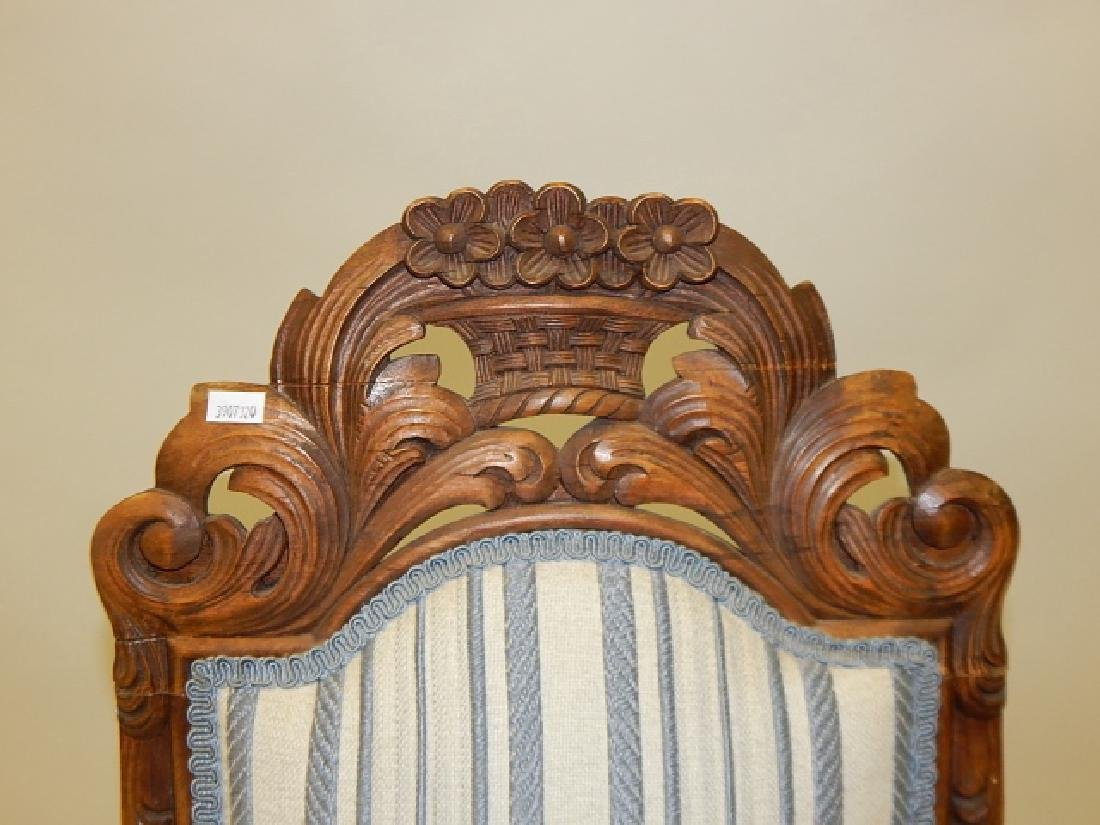 CARVED HIGH BACK SIDE CHAIR - 3