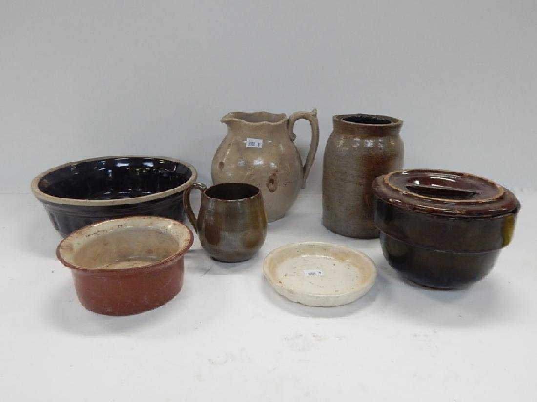 SEVEN PIECES OF STONEWARE