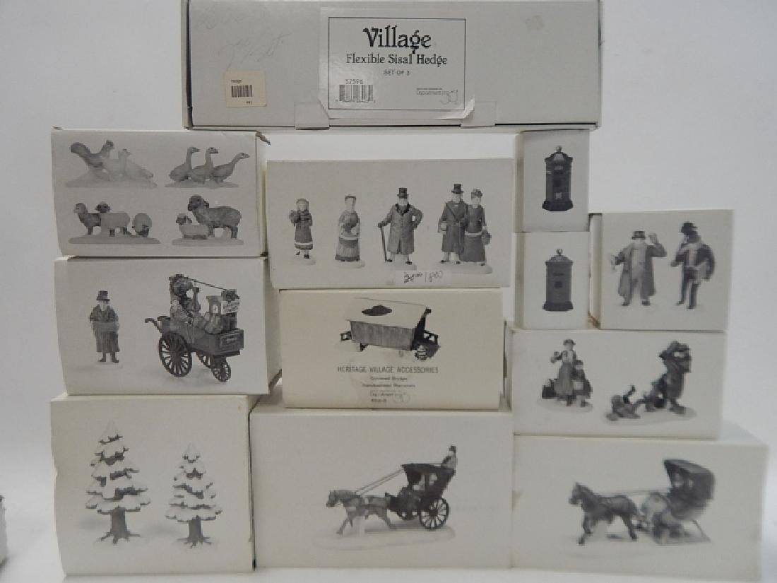 12 PC. ACCESSORIES FOR DEPTARTMENT 56 VILLAGE