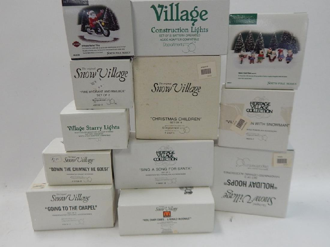 12 PC ACCESSORIES FOR DEPARTMENT 56  VILLAGE - 6