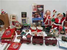 LARGE COLLECTION OF CHRISTMAS DECOR AND FIGURES