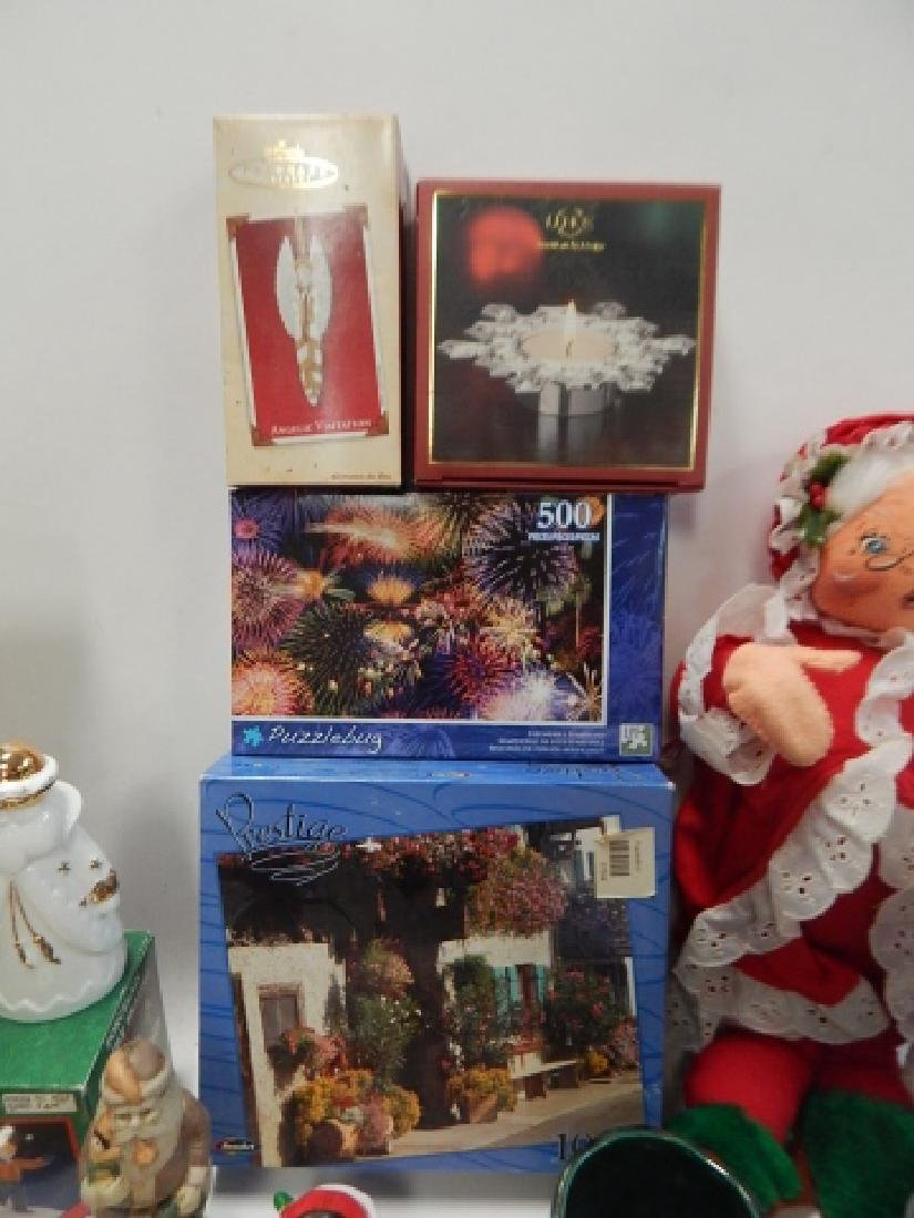 LARGE COLLECTION OF CHRISTMAS DECOR AND FIGURES - 2