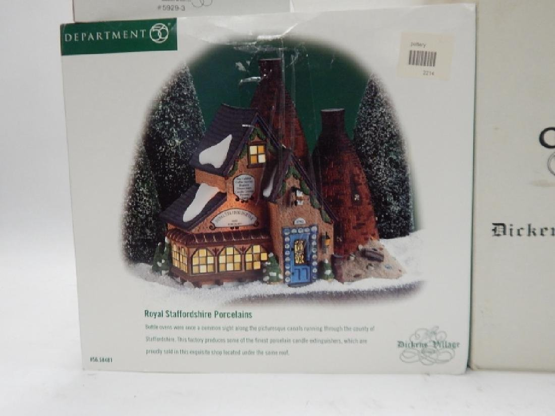 6 PC. DEPARTMENT 56 HERITAGE VILLAGE COLLECTION - 9