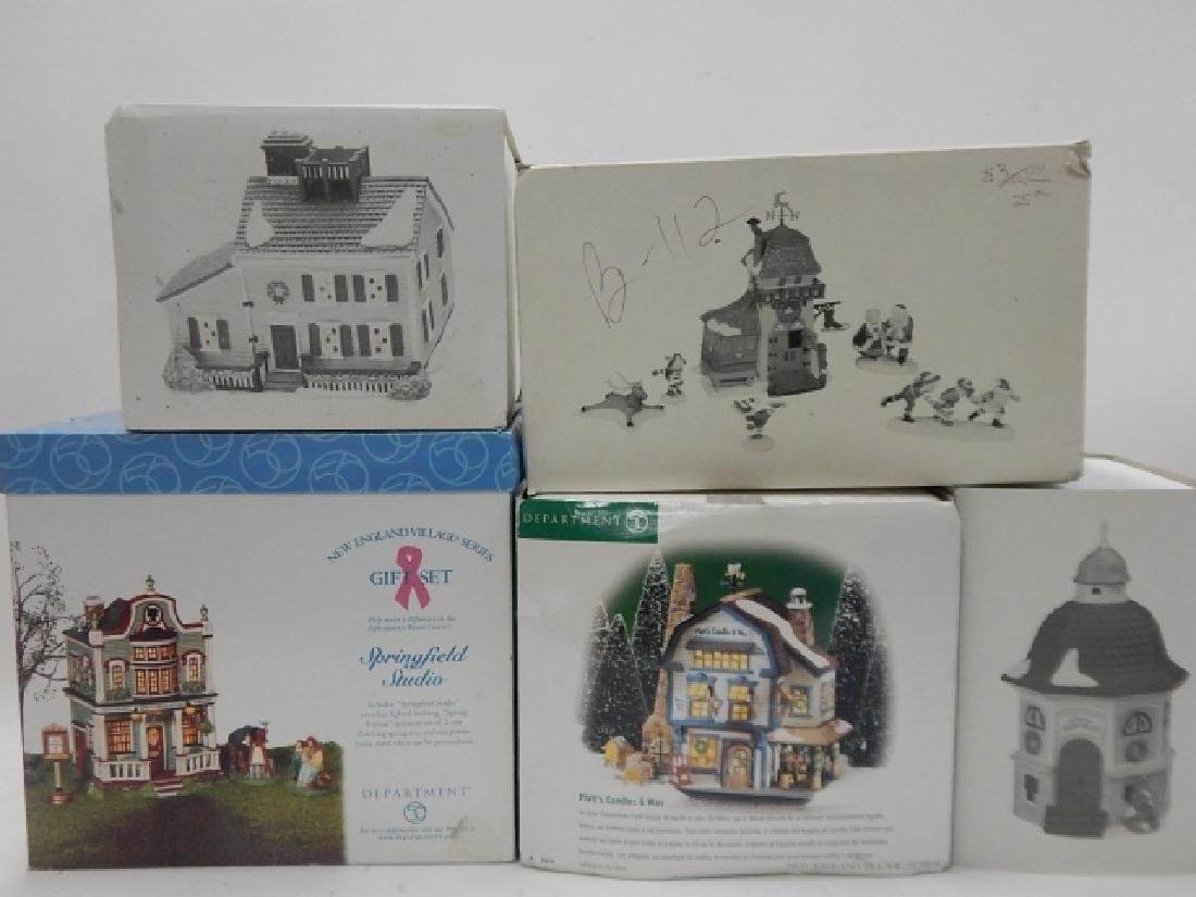 5PC. DEPARTMENT 56 HERITAGE VILLAGE COLLECTION