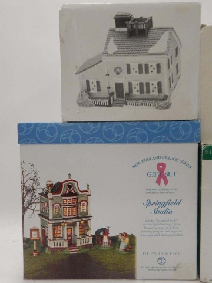 5PC. DEPARTMENT 56 HERITAGE VILLAGE COLLECTION - 2