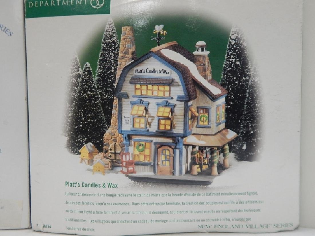 5PC. DEPARTMENT 56 HERITAGE VILLAGE COLLECTION - 3