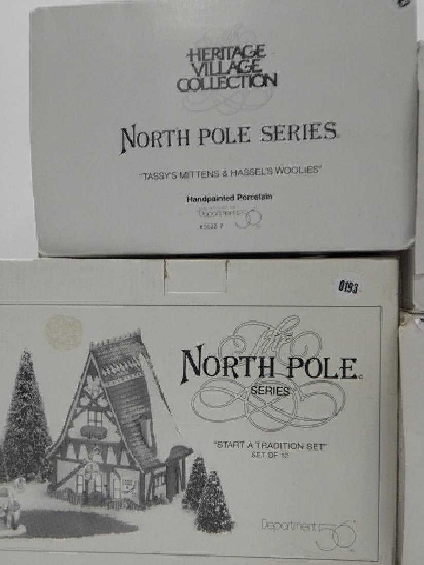 6 PC. DEPARTMENT 56 HERITAGE VILLAGE COLLECTION - 4